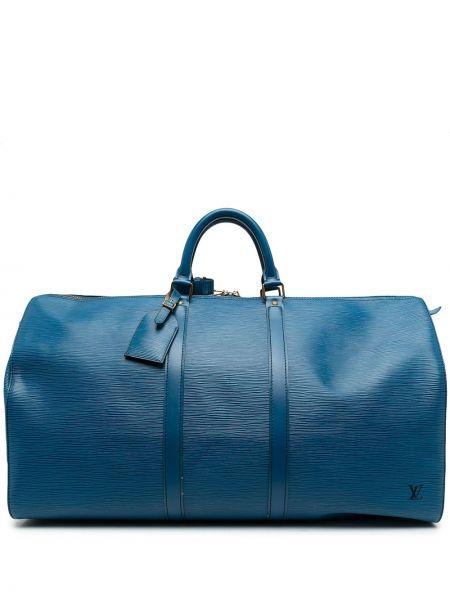 Синяя кожаная сумка Louis Vuitton