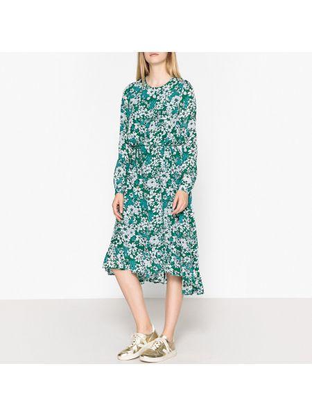 Платье миди с цветочным принтом на пуговицах Essentiel Antwerp