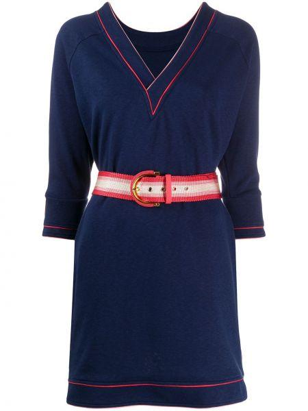 Платье с поясом с открытой спиной футболка Elisabetta Franchi