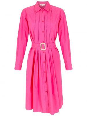 Розовое платье классическое НК