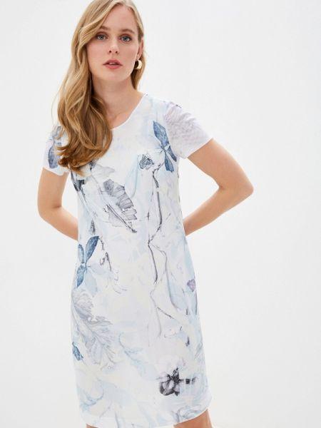 Белое повседневное платье Alexander Bogdanov