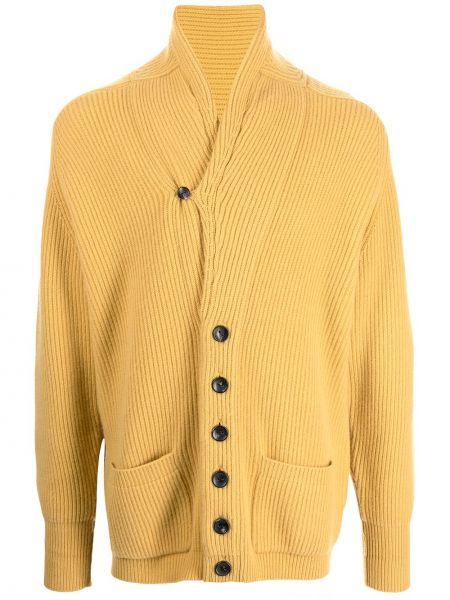 Żółty z kaszmiru sweter N.peal