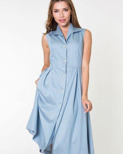 Голубое платье миди Bernetta