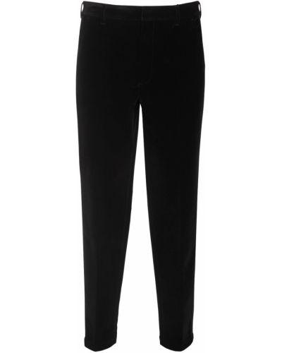 Czarne spodnie z aksamitu Armani Exchange