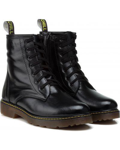 Ботинки - черные Aspena