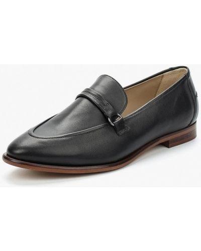 Черные кожаные туфли Marc O'polo