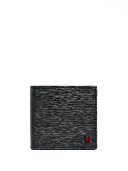 Черный кожаный кошелек со шлицей Kiton