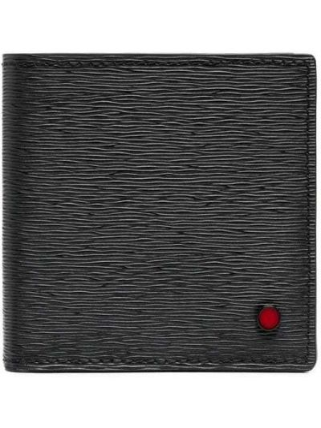 Czarny portfel skórzany Kiton