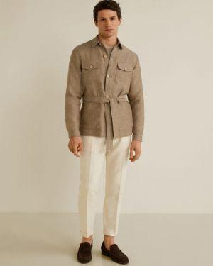 Куртка льняная с поясом Mango