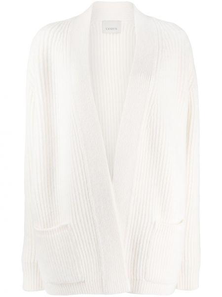 Прямое шерстяное белое пальто Laneus