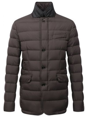 Коричневая куртка пиджак Moorer