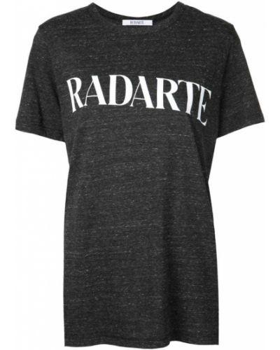 Футбольная черная футболка со стразами Rodarte