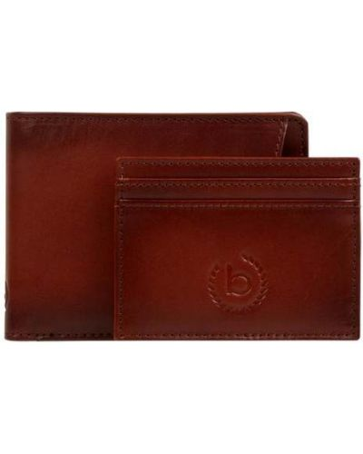 Brązowy portfel na monety skórzany Bugatti
