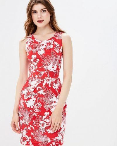 Красное платье осеннее Yumi