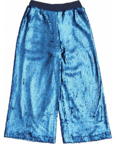 Niebieski spodnie bezpłatne cięcie z cekinami na wielką skalę Molo