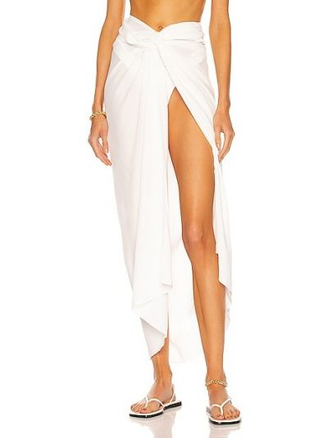 Белая юбка из вискозы Haight