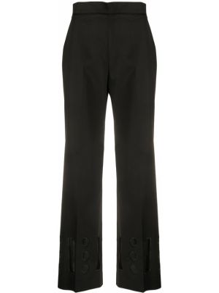 Черные плиссированные укороченные брюки с поясом с высокой посадкой Vivetta