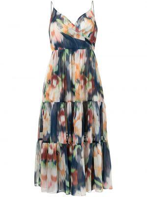 С ремешком синее платье в цветочный принт Sachin & Babi