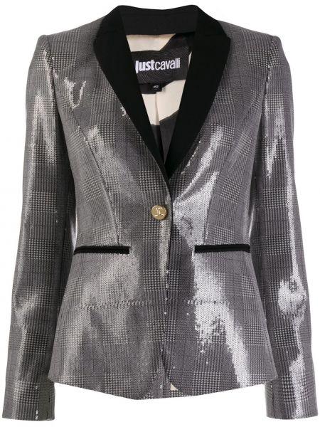 Куртка в клетку на пуговицах Just Cavalli
