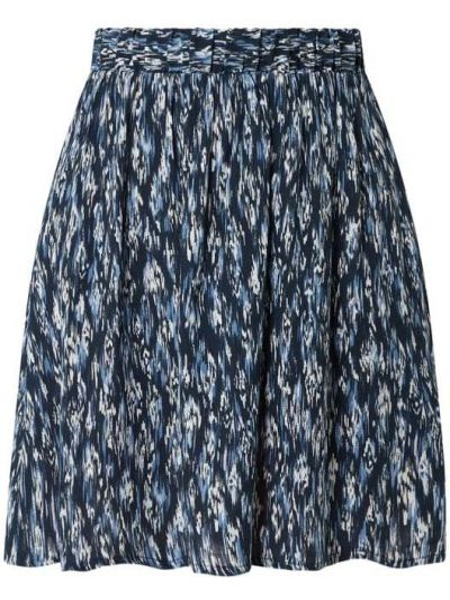 Niebieska spódnica mini rozkloszowana z wiskozy Ichi