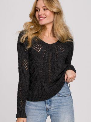 Szary pulower materiałowy Makover