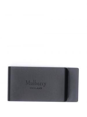 Czarne klipsy Mulberry