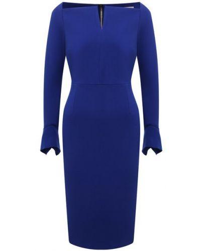 Платье из вискозы - синее Roland Mouret