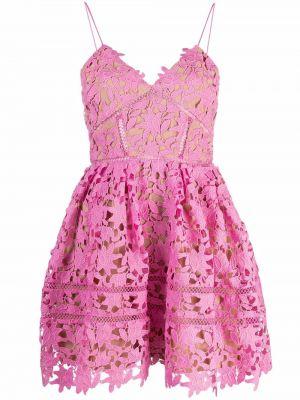 Кружевное платье - розовое Self-portrait