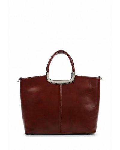 Кожаная сумка итальянский коричневый Roberta Rossi