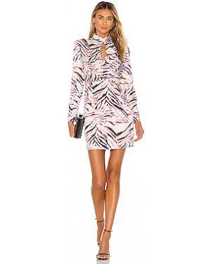 Плиссированное платье мини на пуговицах Kendall + Kylie