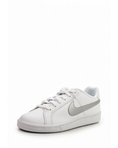 Белые кожаные кеды Nike