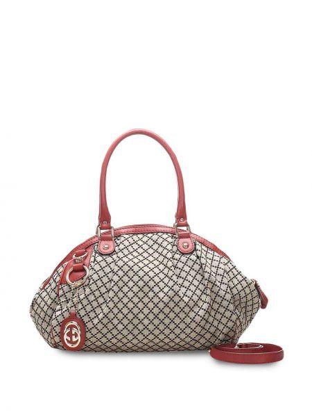 Парусиновая сумка на плечо на молнии с подвесками с карманами Gucci Pre-owned