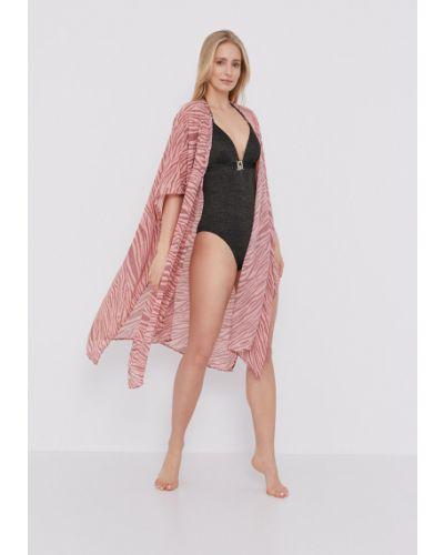 Różowy strój kąpielowy materiałowy Femi Stories