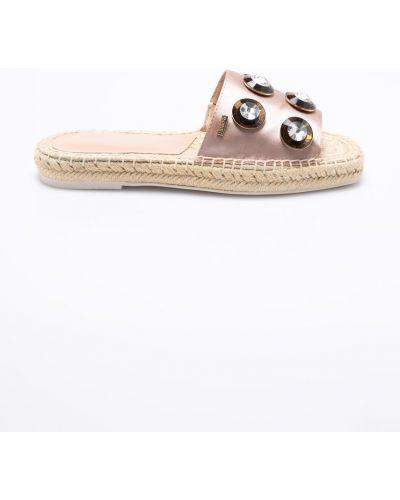Бежевые сандалии текстильные Liu Jo