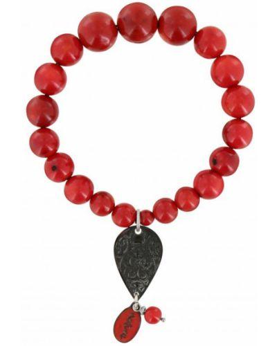 Браслет с камнями - красный Nature Bijoux