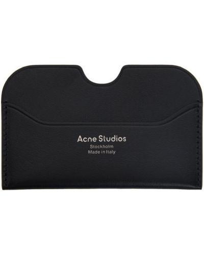 Przeciwtrądzikowy czarny wizytownik z logo do twarzy Acne Studios