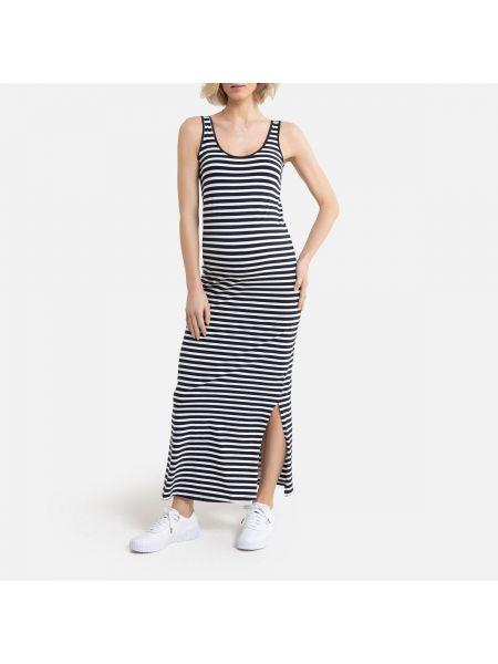 Платье для беременных макси в полоску La Redoute