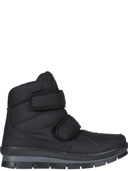 Ботинки из экокожи - черные Jog Dog