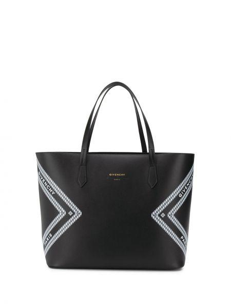 Skórzana torebka na ramię z nadrukiem Givenchy