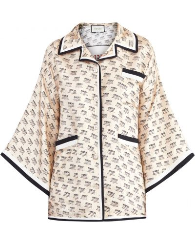 Блузка с лацканами на пуговицах Gucci