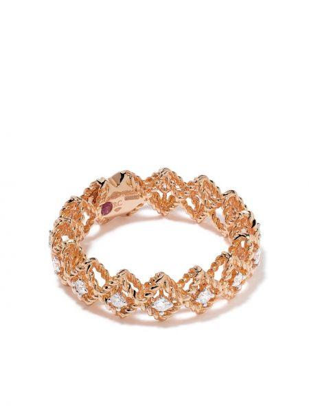 Z rombem biały pierścień z diamentem Roberto Coin