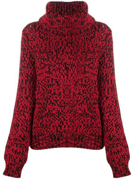 С рукавами шерстяной красный свитер крупной вязки Mulberry