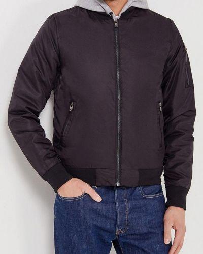 Черная утепленная куртка Lindbergh