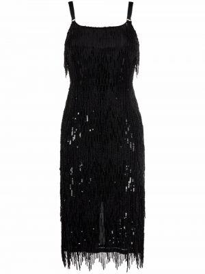 Платье миди - черное Elisabetta Franchi