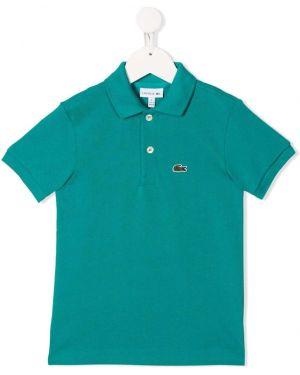 Koszula krótki rękaw - zielona Lacoste Kids