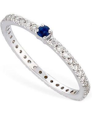 Niebieski pierścionek z diamentem Vanzi