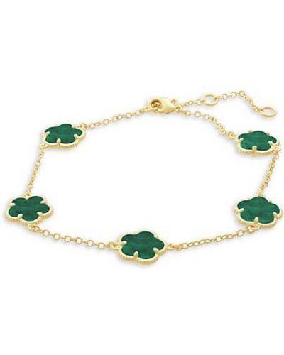 Зеленый браслет с изумрудом Jan-kou