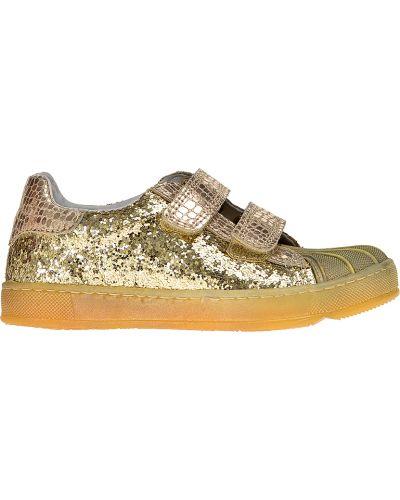 Кроссовки золотого цвета Naturino