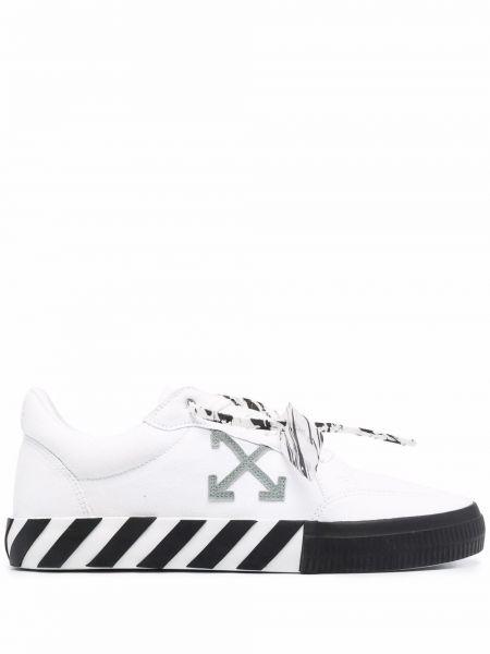 Белые кожаные кроссовки Off-white