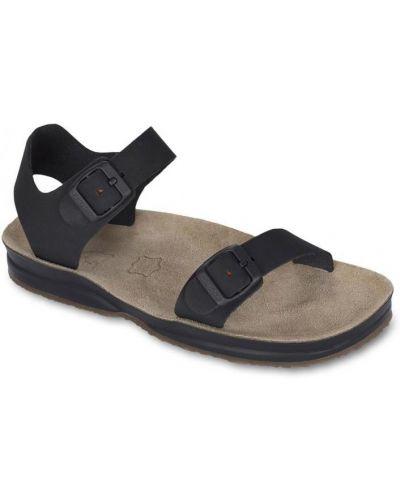 Черные сандалии Lizard